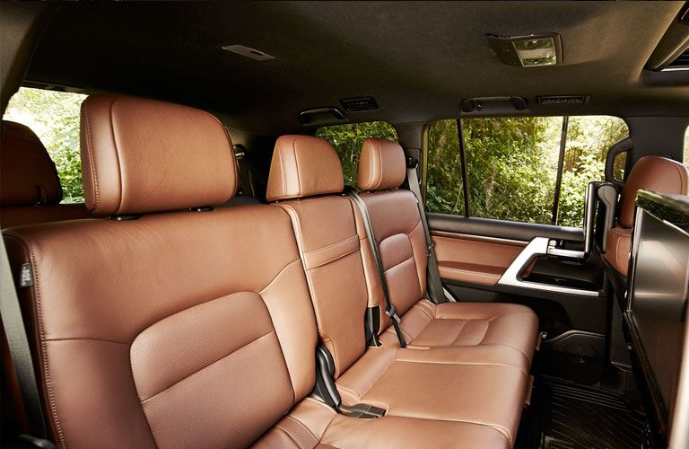 back seats of the 2020 Toyota Land Cruiser