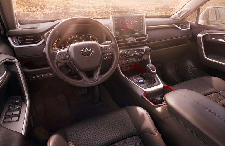 dashboard of 2020 Toyota RAV4 TRD edition