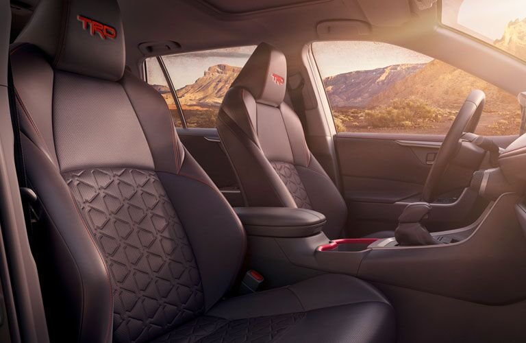 interior front seats of 2020 Toyota RAV4 TRD edition