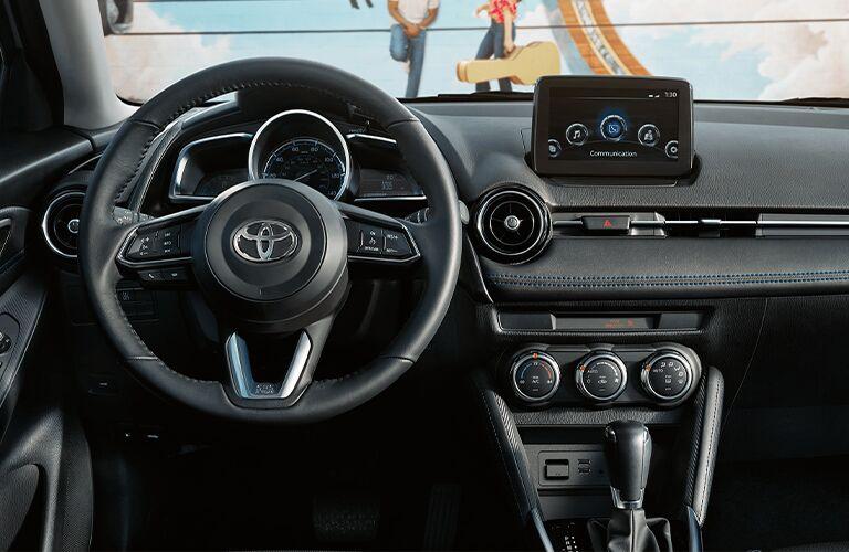 dashboard of the 2020 Toyota Yaris