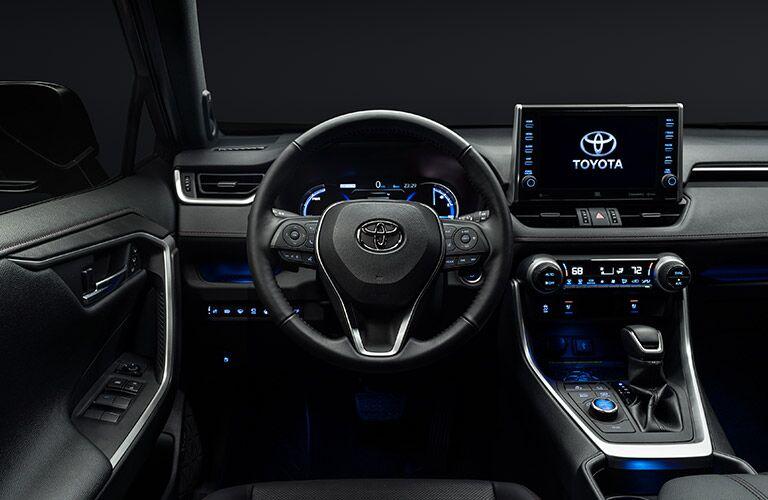 dashboard of the 2021 Toyota RAV4 Prime