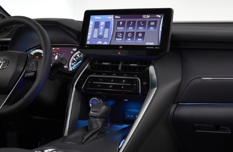 dashboard of the 2021 Toyota Venza
