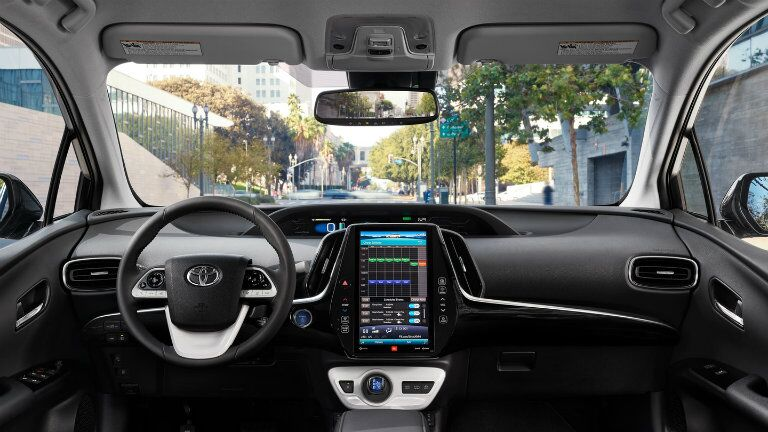 Shot of the technology in the Prius Prime