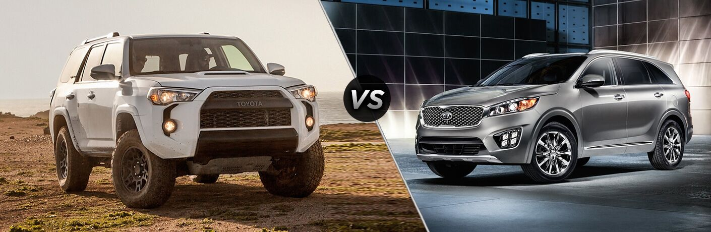 2018 4runner compared to 2018 kia sorento