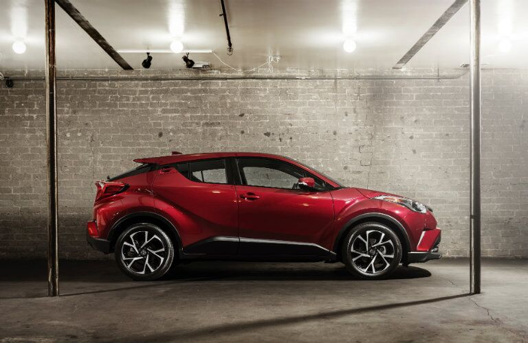 2018 Toyota C-HR Side View of Red Exterior