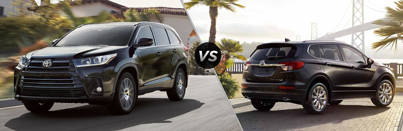 2018 highlander compared to 2018 buick envision