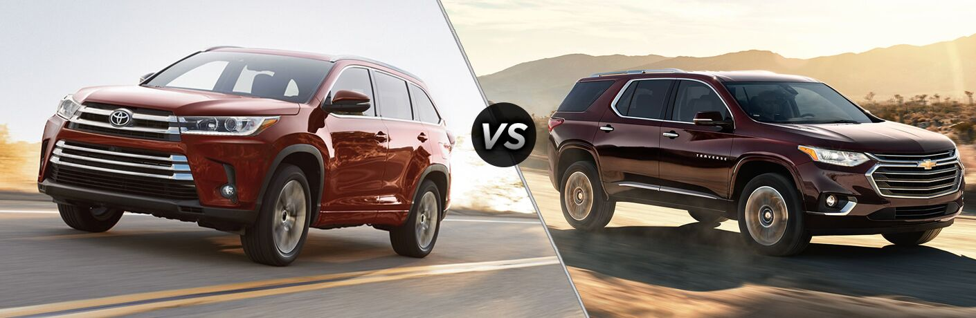2018 highlander compared to 2018 chevy traverse