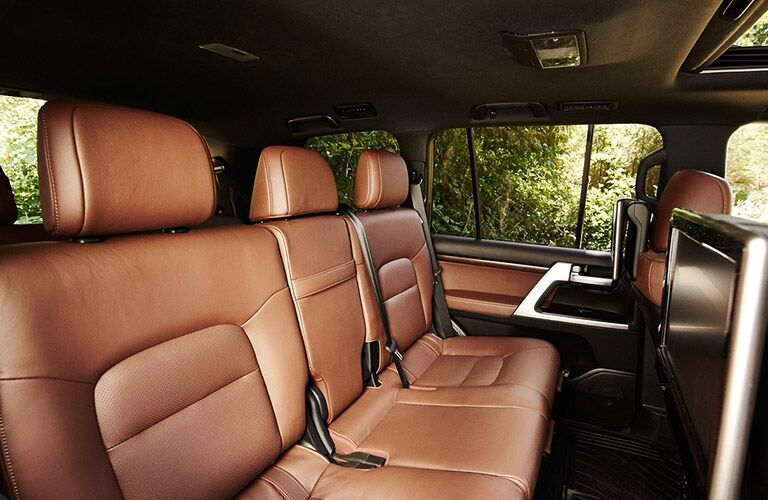 Interior view of back seat of the 2018 Toyota Land Cruiser