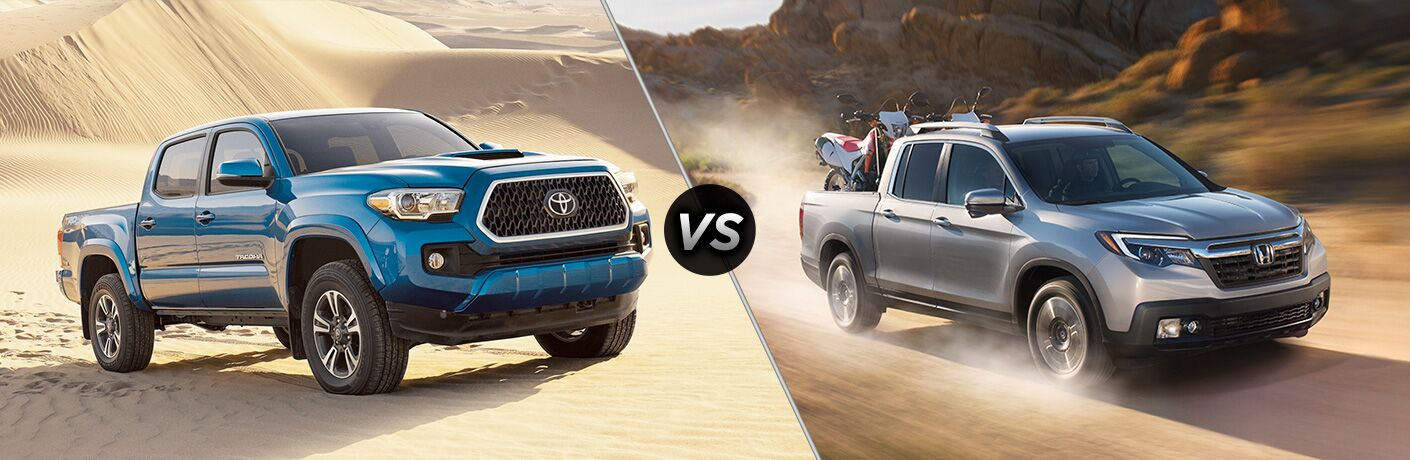 2018 tacoma compared to 2018 ridgeline