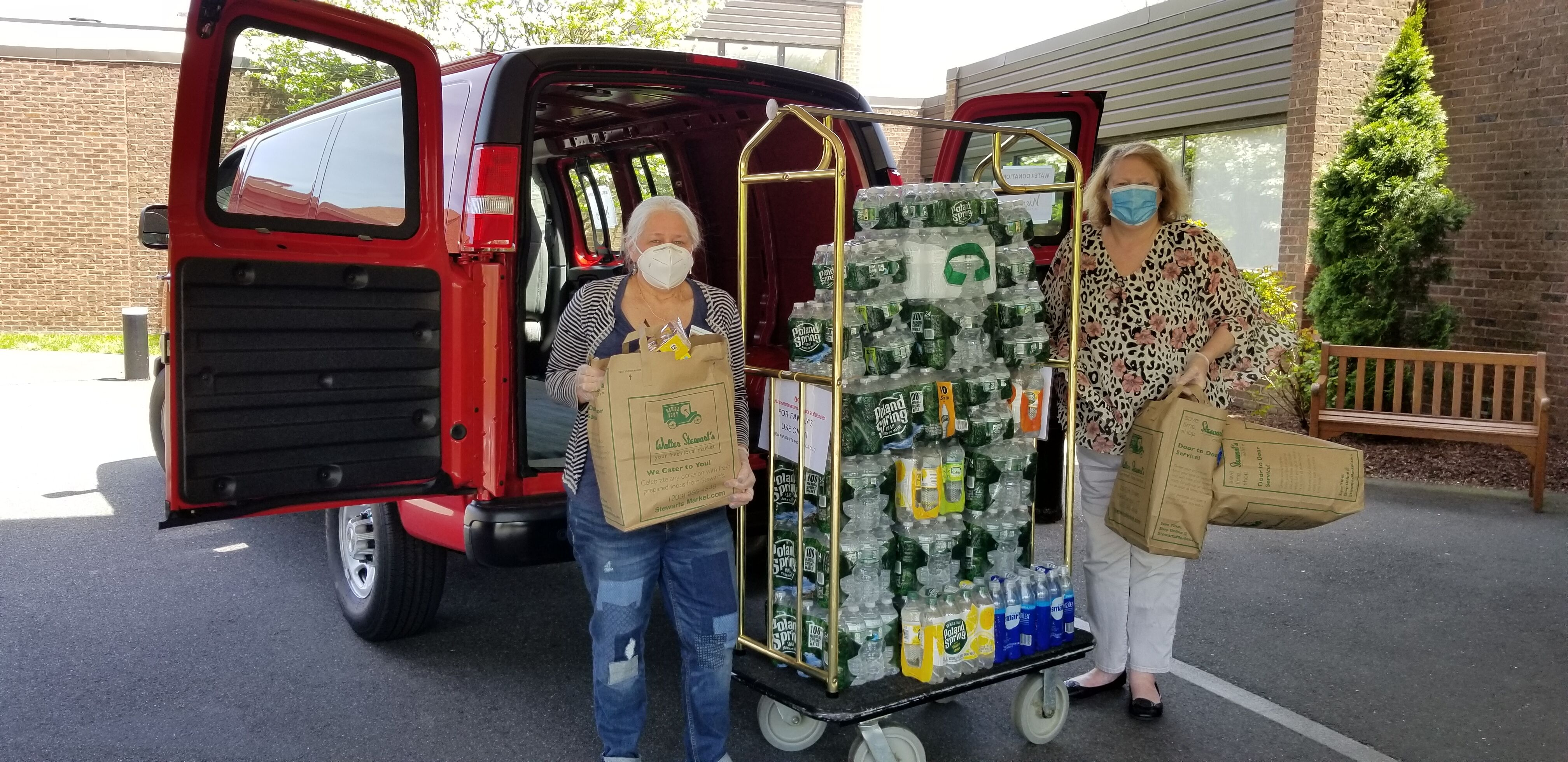 Another delivery of bottled water for the front-line Nurses and Heathcare workers at Waveny Lifecare Network in honor of National Nurses Week