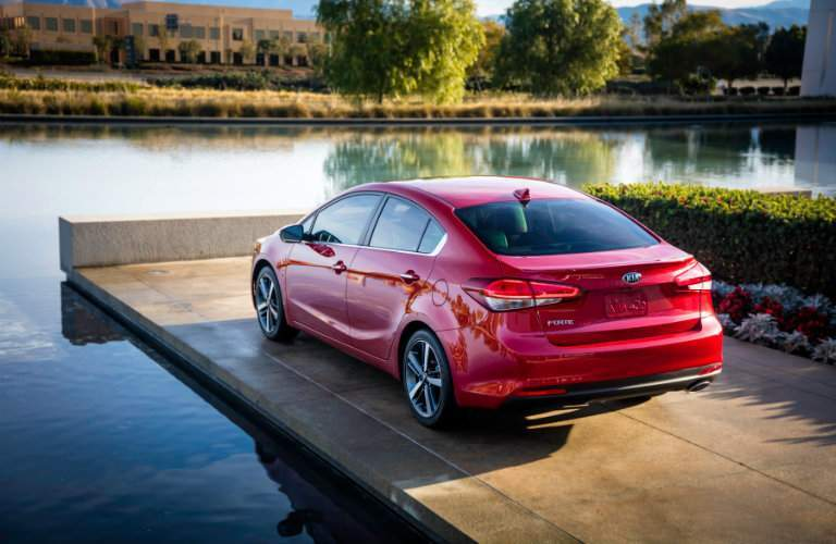 2018 kia forte rear by water