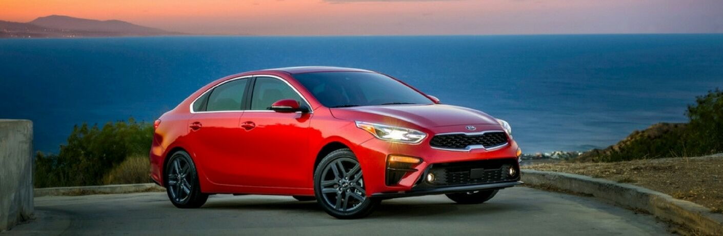 2019 kia forte parked under sunset