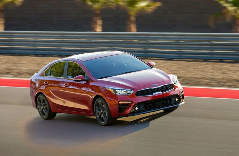 2019 kia forte driving on track