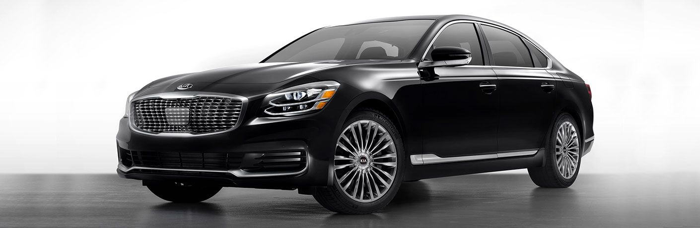 Black 2020 Kia K900 on White Background