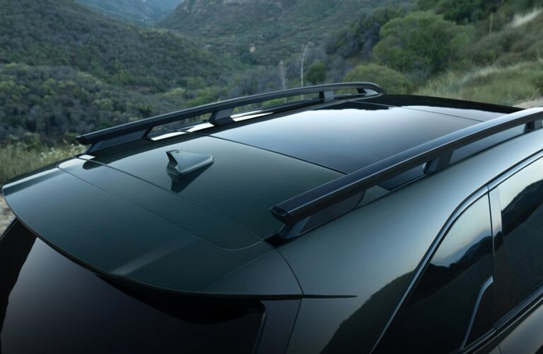 Overhead View of 2021 Kia Sorento Sunroof and Roof Rails