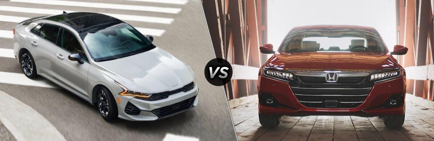 2021 Kia K5 vs 2021 Honda Accord comparison image