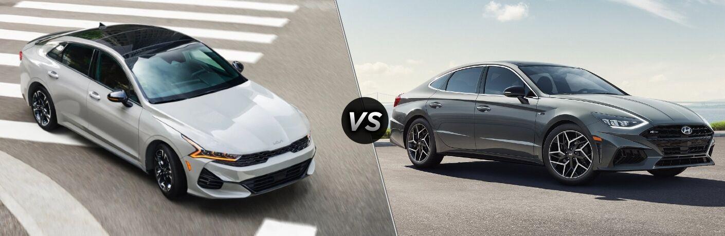 2021 Kia K5 vs 2021 Hyundai Sonata comparison image