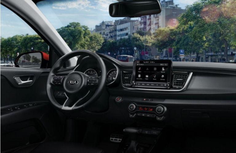 2021 Kia Rio 5-Door Steering Wheel and Dashboard