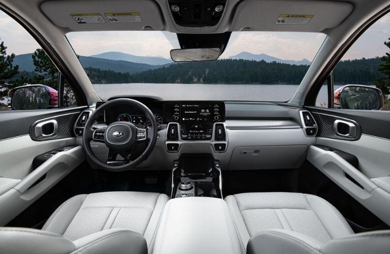 2021 Kia Sorento Hybrid Steering Wheel, Dashboard and Touchscreen Display