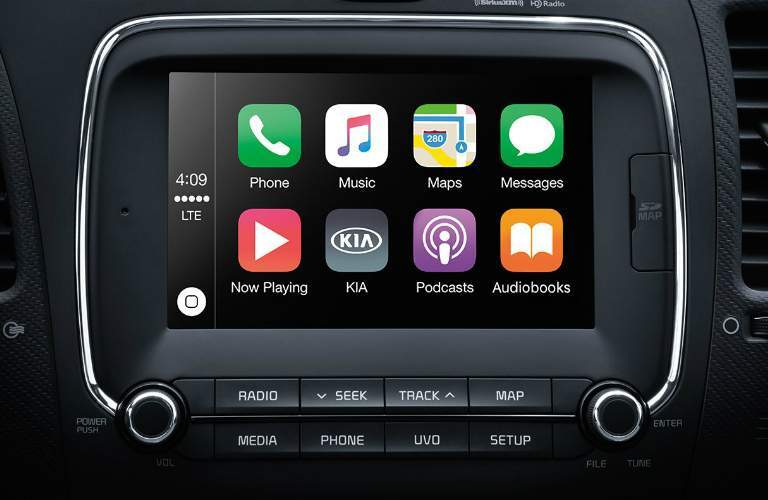 Infotainment system in the 2017 Kia Forte