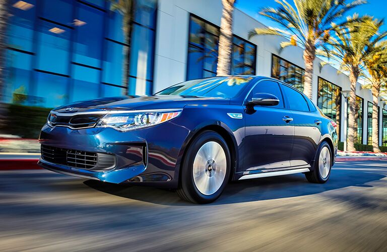 dark blue kia optima hybrid