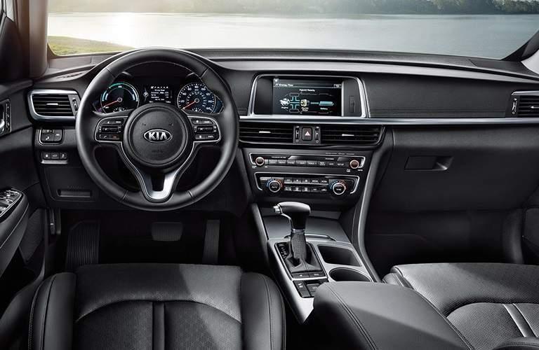 Cockpit view of a 2018 Kia Optima Hybrid