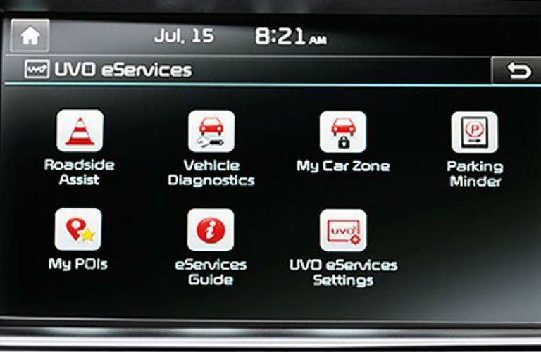 2019 Kia Optima Hybrid touchscreen display with UVO eServices