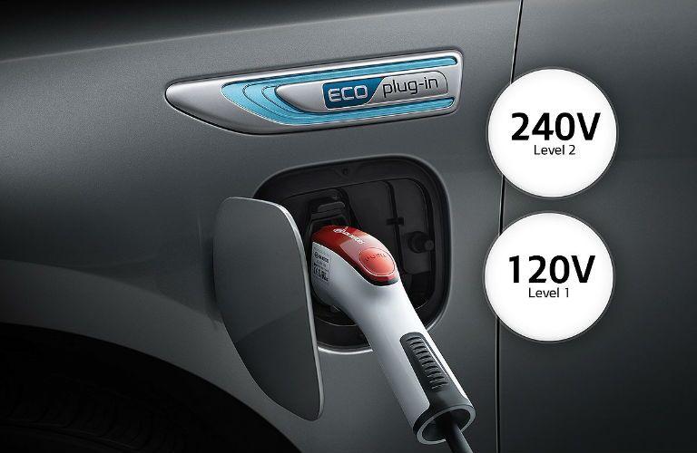 2019 Kia Optima Plug-In Hybrid with handle plugged in