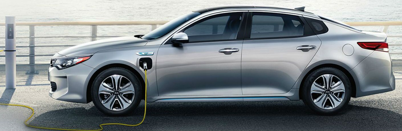 2019 Kia Optima Plug-In Hybrid getting charged