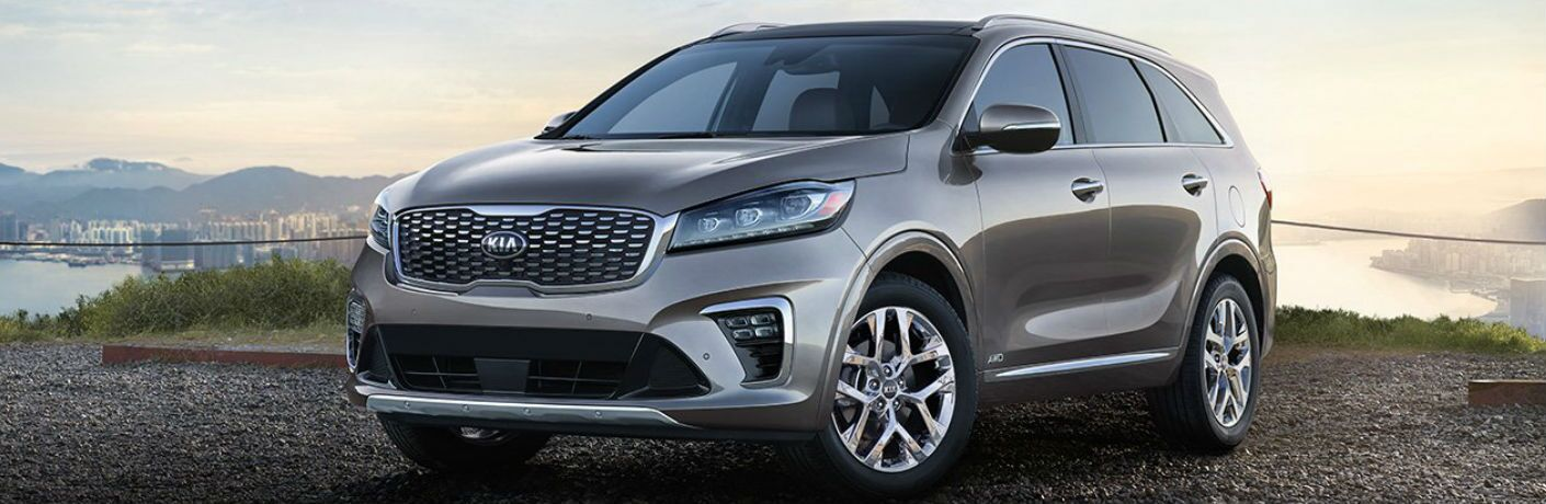 2019 Kia Sorento parked showing front and side profile