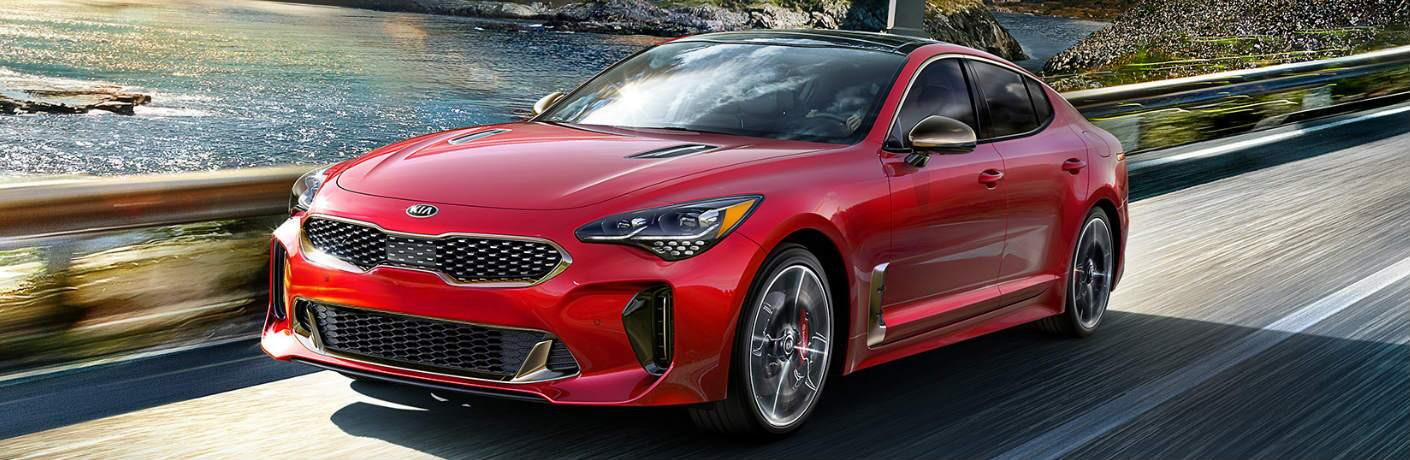 2019 Kia Stinger driving on a road