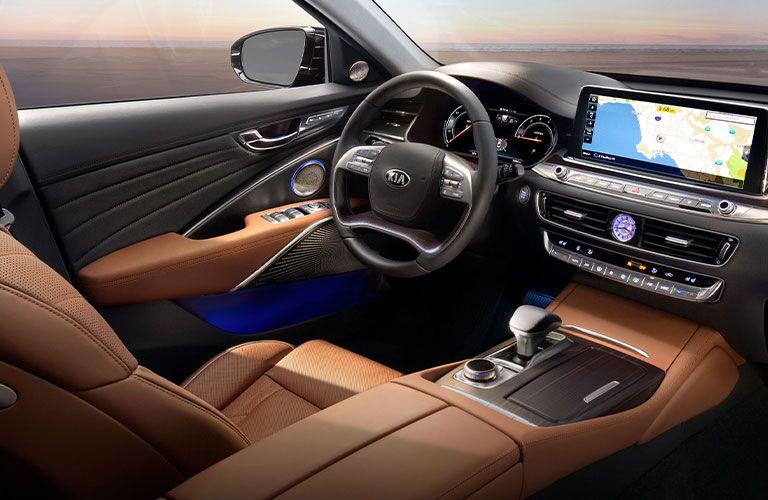 2020 Kia K900 front seat and dashboard
