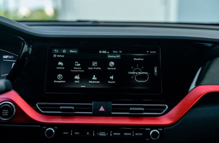 2020 Kia Niro touchscreen display