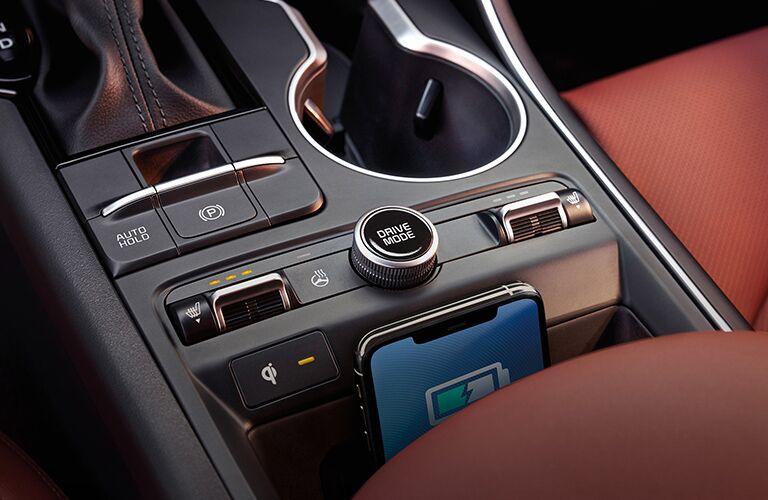 2021 Kia K5 center console