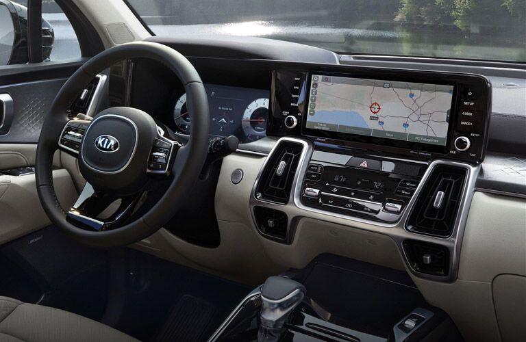 2021 Kia Sorento dashboard and steering wheel