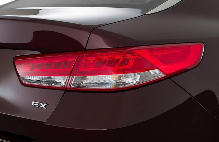 Rear taillight on the 2018 Kia Optima