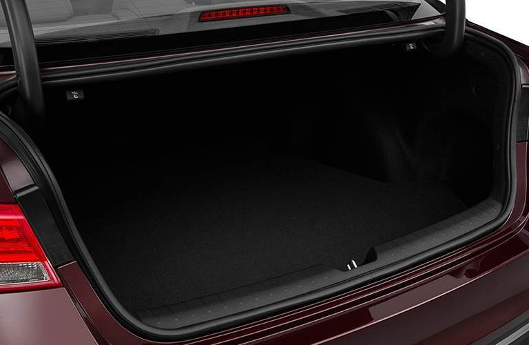 Empty trunk of the 2018 Kia Optima