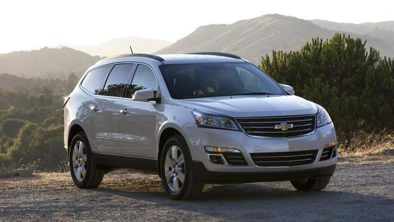 2015 Chevrolet Traverse on a gravel road