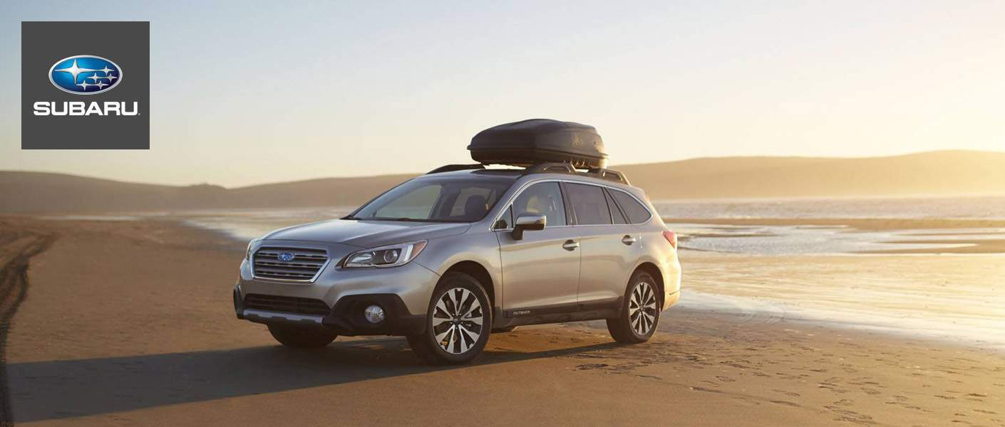 2015 Subaru Outback on the beach