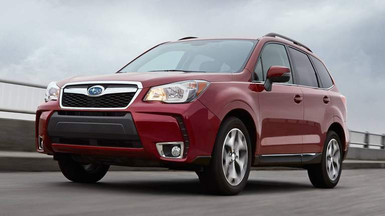 2015 Subaru Forester over a bridge