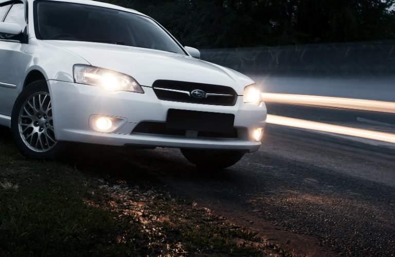 Subaru Legacy on a Dirt Road