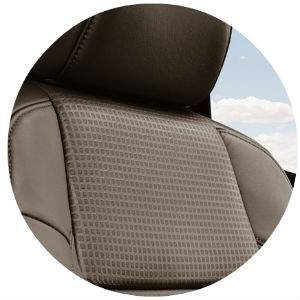 What kind of seat material does the Tacoma have?