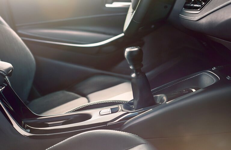 shift knob and front seat inside 2019 Toyota Corolla Hatchback