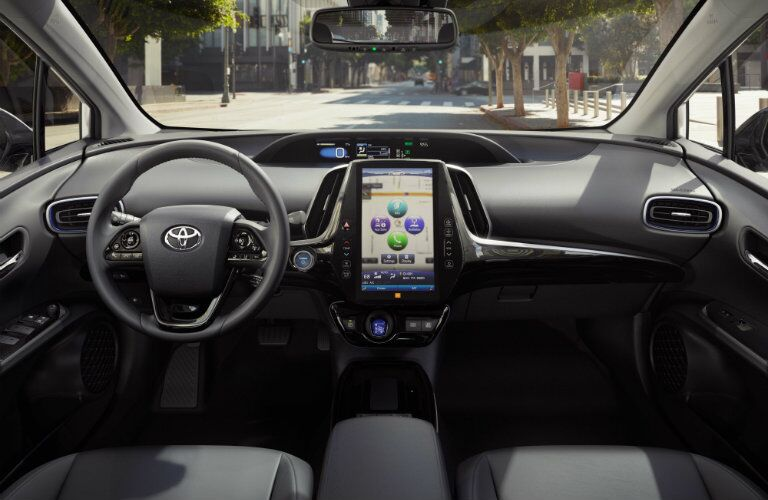 dashboard view inside 2019 Toyota Prius
