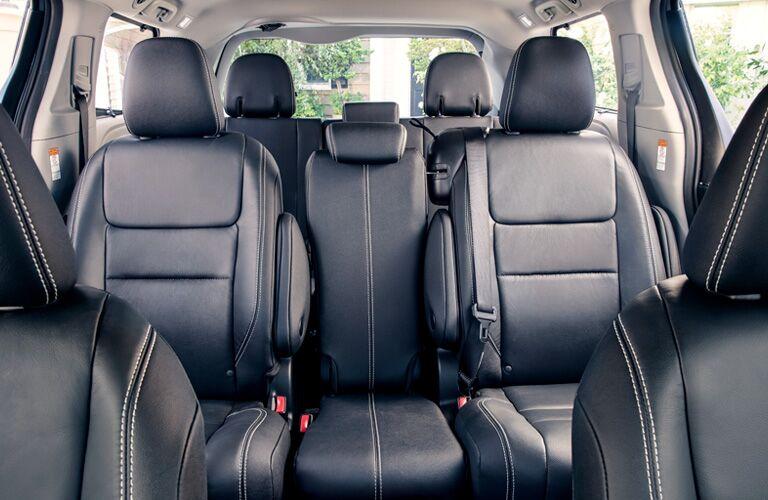 Black seats in 2019 Toyota Sienna