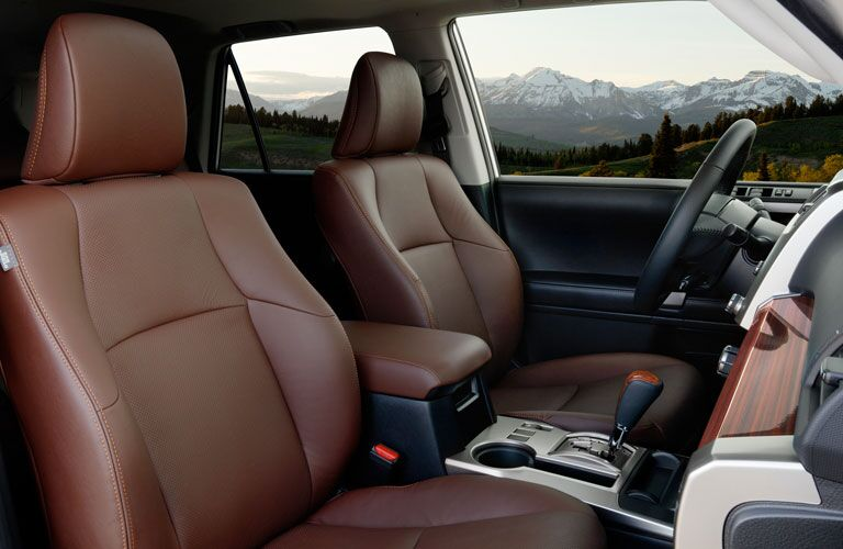 Dashboard and brown front seats in 2020 Toyota 4Runner
