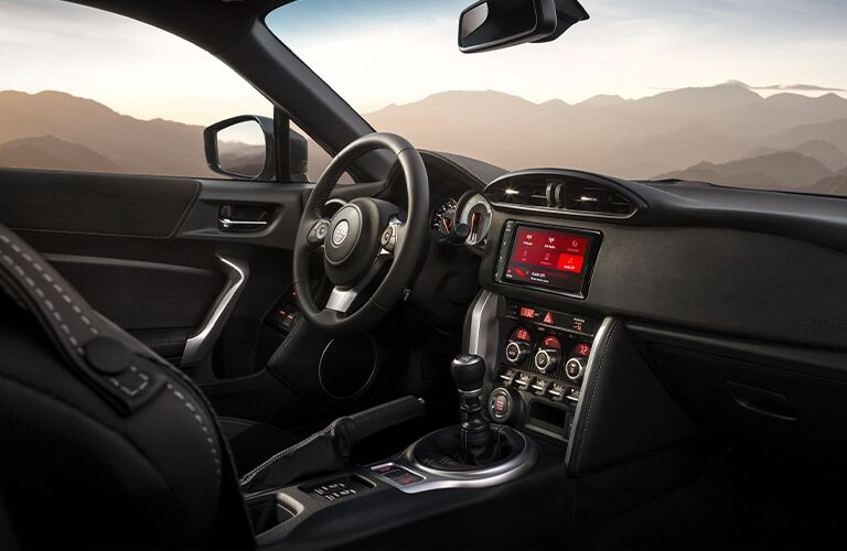 Steering wheel, gauges, and touchscreen in 2020 Toyota 86