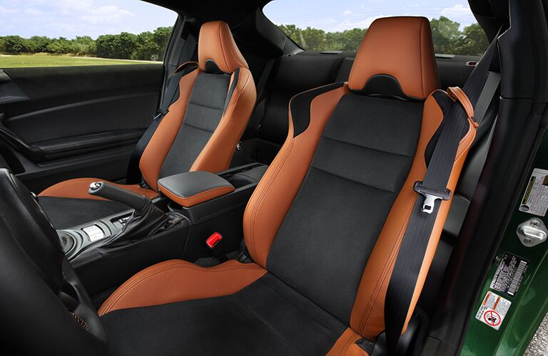 Brown and black front seats in 2020 Toyota 86