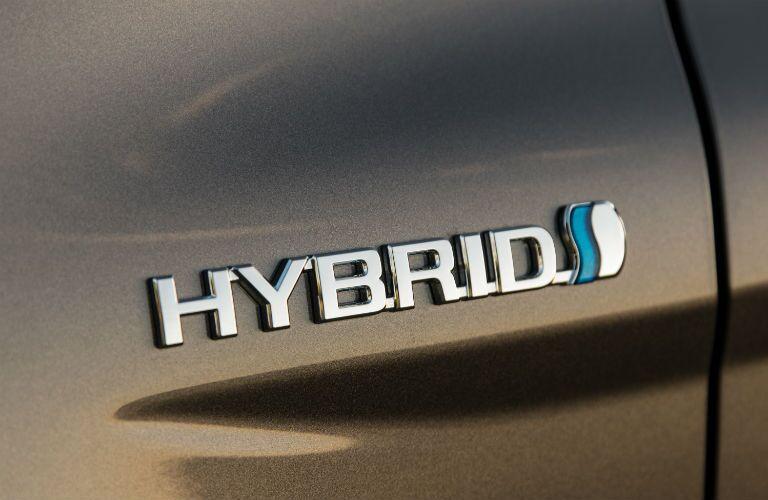 Hybrid badge on grey 2020 Toyota Camry Hybrid