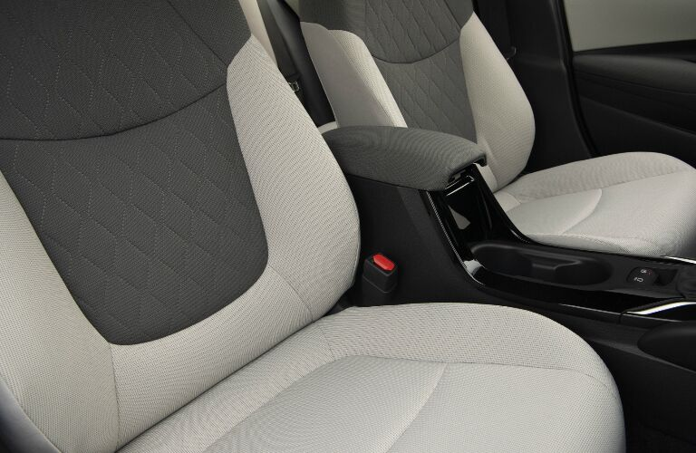 Two-tone grey seats in 2020 Toyota Corolla Hybrid